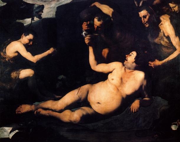 Jose de Ribera - Silène ivre - 1626
