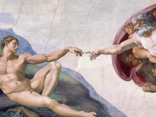 La création de l'Homme, Michel-Ange