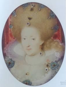 Image 5 : Anne de Danemark, épouse de Jacques Ier, par Isaac Oliver miniature sur velin, 48x36mm, musée du Louvre (Inv. Sauvageot 1067)
