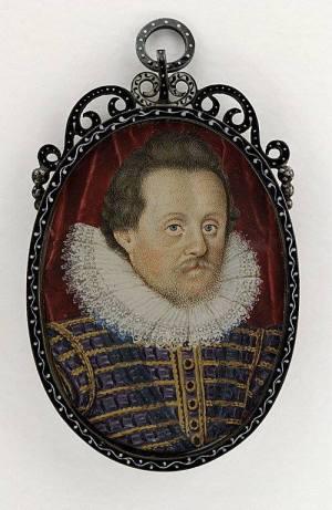 Image 3 : Jacques Ier d'Angleterre, d'après Nicholas Hilliard, miniature sur velin, 50x36mm, musée du Louvre (RF 12212)