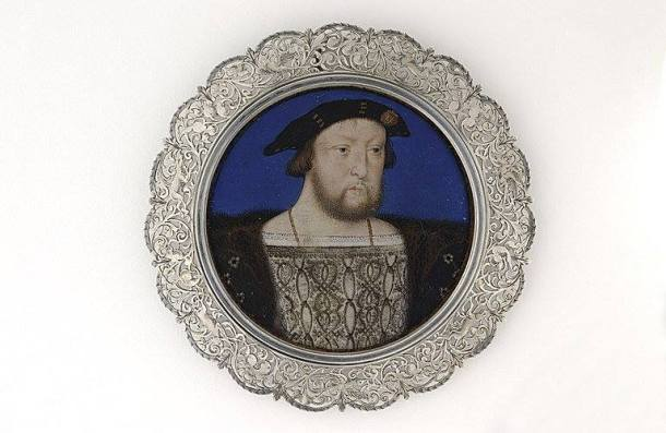 Image 1 : Henry VIII par Lucas Horenbout, miniature sur velin, 56mm de diamètre, musée du Louvre (RF 44315, don 1994)