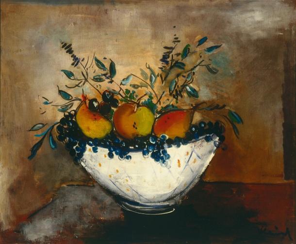 Maurice Vlaminck, Nature morte aux poires, pommes et raisins