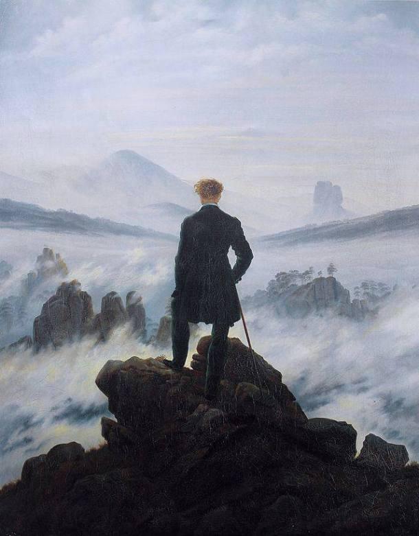Caspar David Friedrich, Voyageur au dessus d'une mer de nuages