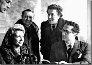 Max Ernst, Jacqueline Lamba, André Masson, André Breton et Varian Fry