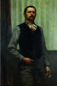 George Desvallières, Autoportrait, 1891 Collection Domitille Desvallières-Rousse