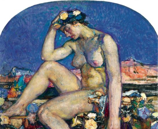 George Desvallières, La Grèce (Childe Harold), 1910. Huile sur toile, 143 x 158 cm. Collection particulière.