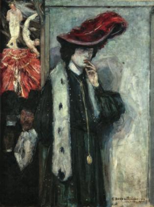 George Desvallières, Un coin du Moulin- Rouge, 1904. Collection particulière Paris