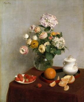 """""""Fleurs d'été et fruits"""", 1866"""