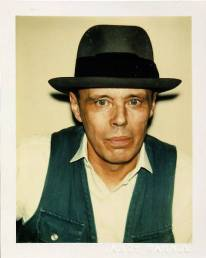 Warhol, Portrait de Beuys, Polaroid de 1979