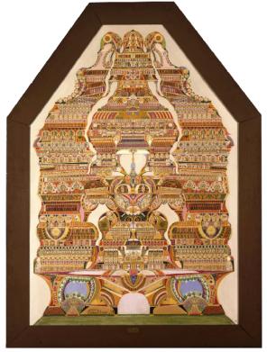 Les grandes oeuvres ne s'élaborent que dans le recueillement et le silence, entre 1923 et 1925 huile sur toile 192 x 133 cm, Collection de l'Art Brut, Lausanne