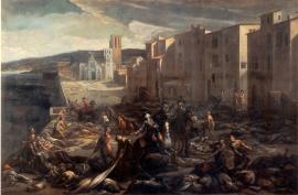 Scène de la peste de 1720 à la Tourette (Marseille), tableau de Michel Serre (musée Atger, Montpellier)
